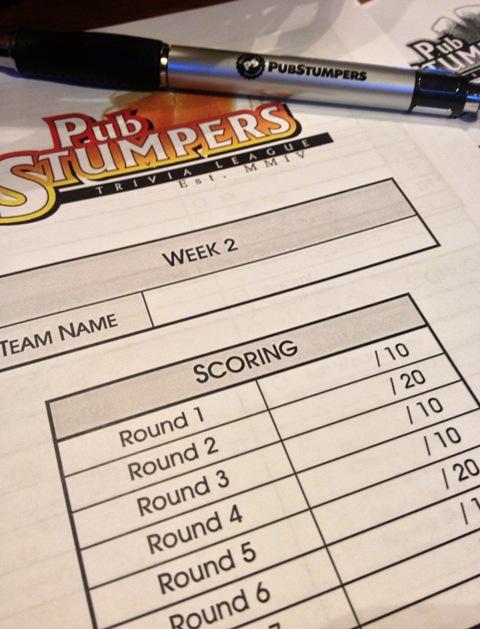 Trivia score card WEB