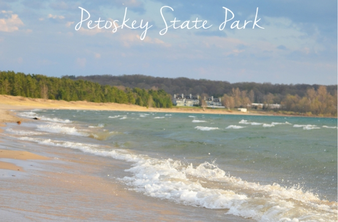 Petoskey state park with text