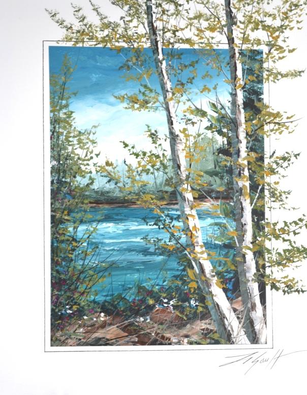 Thomas LeGault - Summer Lake - Original Acrylic